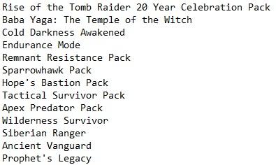 Tomb Raider 2016